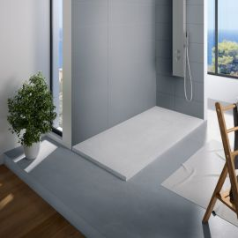 Receveur de douche recoupable blanc Kinerock KINEDO photo du produit Principale M