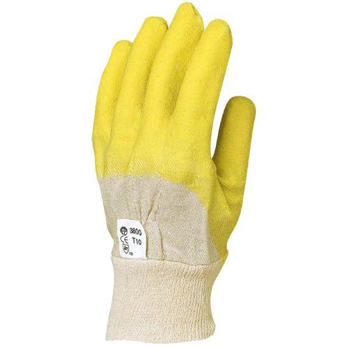 Gants de travail latex crêpé jaune Eurotechnique MO3800 photo du produit
