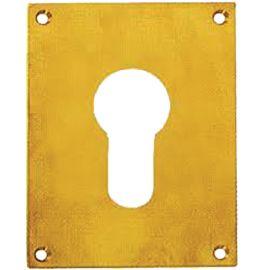 Plaque laiton poli clé I / clé L pas cher