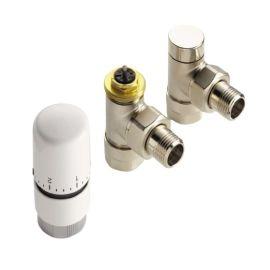 """Kit robinetterie thermostatique Acova blanc 1/2"""" photo du produit Principale M"""