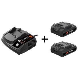Pack énergie 2 batteries Spit 18 V - 2 Ah + chargeur photo du produit