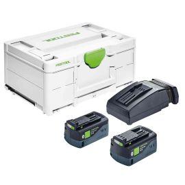 Set énergie SYS3 ENG 18V 2x5,2/TCL6 2x5,2 Ah en coffret SYSTAINER 3 - FESTOOL - 576810 pas cher Principale M