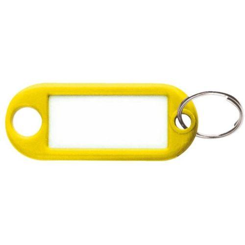 Porte étiquette jaune avec anneau boite de 100 pièces - STRAUSS - 420474 pas cher Principale L