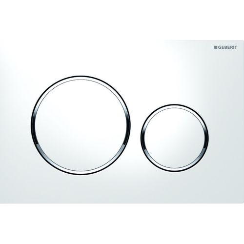 Plaque de déclenchement WC DUOFIX SIGMA 20 blanc/chromé - GEBERIT - 115.882.KJ.1 pas cher