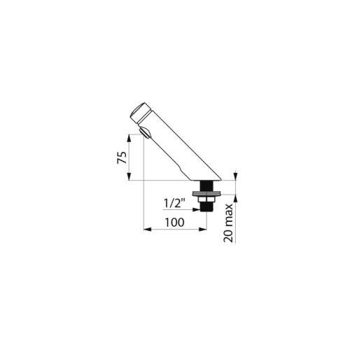 Robinet de lavabo temporisé TEMPOSOFT 2 - DELABIE - 740500 pas cher Secondaire 1 L