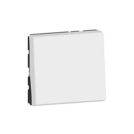 Permutateur 10AX 250V~ Mosaic 2 modules - blanc photo du produit