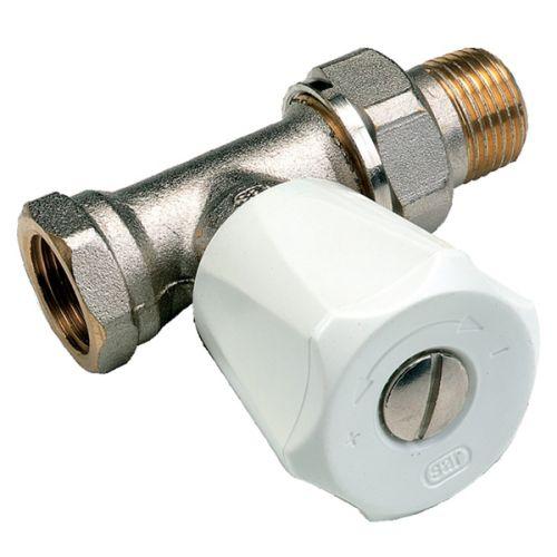 Robinet de radiateur droit nickelé EUROSAR MF 1/2 UNIVERSEL - COMAP - 419204 pas cher Principale L