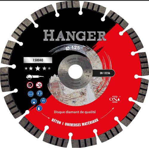 Disque diamant Premium 125 mm pour le béton segment 12 mm - HANGER - 150040 pas cher Principale L