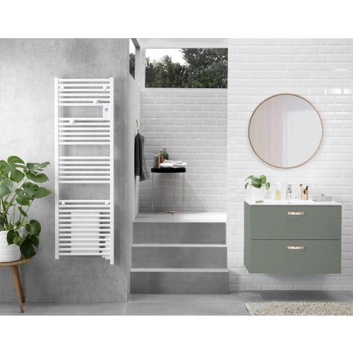 Radiateur sèche-serviettes Doris électrique digital sans ventilo 500W Blanc - ATLANTIC -850257 pas cher Secondaire 2 L