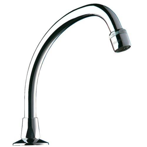 Bec mobile de lavabo col de cygne 150 mm - DELABIE - 967152 pas cher Principale L