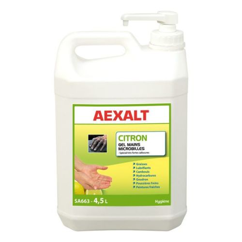 Gel mains microbilles Aexalt citron photo du produit
