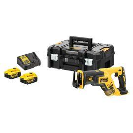 Scie sabre compacte sans fil Dewalt XR 18 V Brushless DCS367NT + 2 batteries + chargeur photo du produit