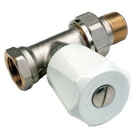Robinets de radiateur thermostatique droit nickelé COMAP photo du produit