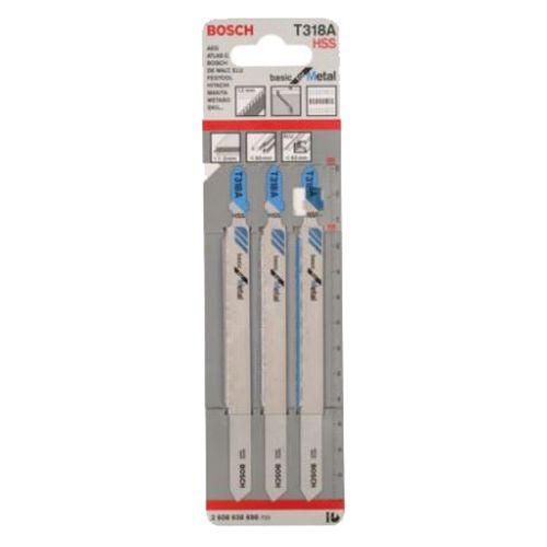 3 lames de scie sauteuse HSS 132 mm pour le métal T318A - BOSCH - 2608638698 pas cher Secondaire 1 L