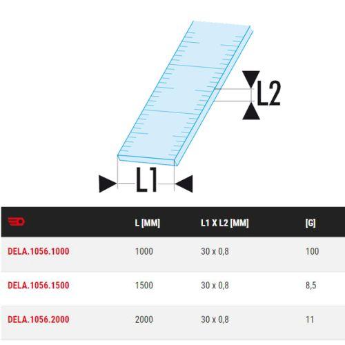 Reglet semi-rigide inox 1 face 1000 mm - FACOM - DELA.1056.1000 pas cher Secondaire 1 L