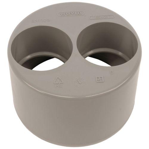 Tampon de réduction double PVC mâle-femelle 100/40/40 - WAVIN - 3025987 pas cher Secondaire 1 L