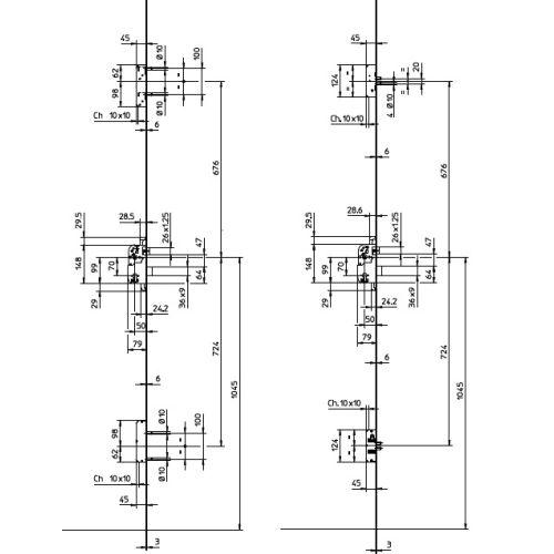 Pack Bricard serrure 3 & 5 points A2P** + cylindre Dual XP S2 photo du produit Secondaire 3 L