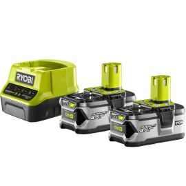 Pack chargeur Ryobi ONE+ 18 V + 2 batteries 4 Ah RC18120-240 ONE+ pas cher Principale M