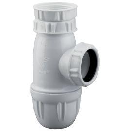 Siphon d'évier grand culot PVC et laiton Valentin photo du produit