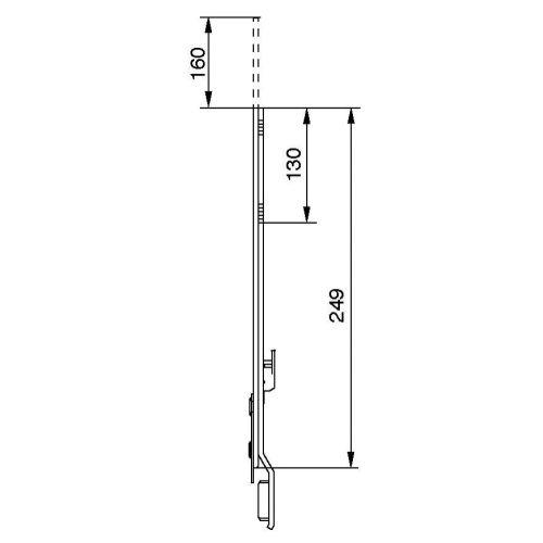Rallonge de 250mm - FERCO - 8-00625-00-0-1 pas cher Secondaire 1 L