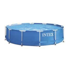 Piscine tubulaire Metal Frame ronde bleue avec épurateur - INTEX - 28212NP pas cher