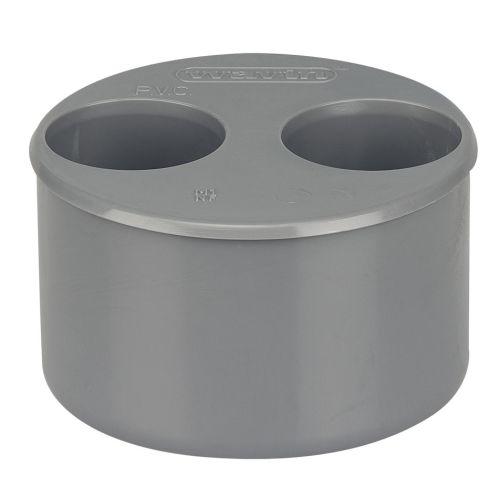 Tampon de réduction double PVC mâle-femelle 100/40/40 - WAVIN - 3025987 pas cher