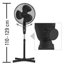 Ventilateur sur pied noir hauteur réglable - TVE 18 S pas cher