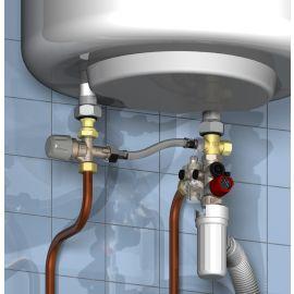 Kit de sécurité chauffe-eau Watts avec groupe de sécurité NF SFR® inox photo du produit