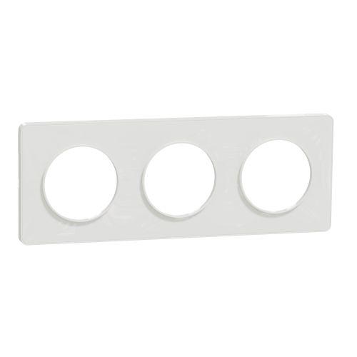 Plaque ODACE TOUCH blanche 3 postes horizontal/vertical entraxe 71 mm - SCHNEIDER ELECTRIC - S520806 pas cher Principale L