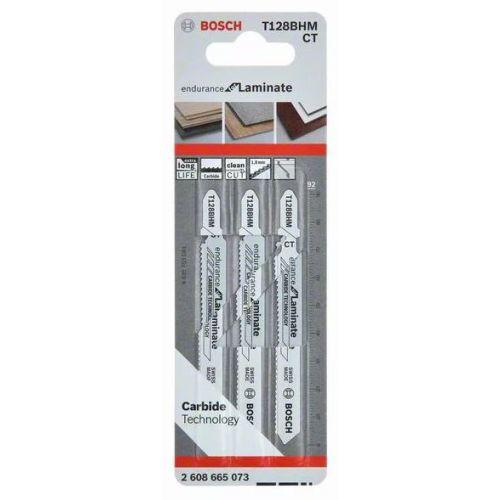 3 lames de scie sauteuse 92 mm pour parquets et stratifiés T128BHM - BOSCH - 2608665073 pas cher Secondaire 2 L
