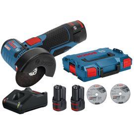 Meuleuse angulaire sans-fil Bosch GWS 12V-76 12 V + 2 batteries 2 Ah + chargeur + L-Boxx 102 pas cher Principale M