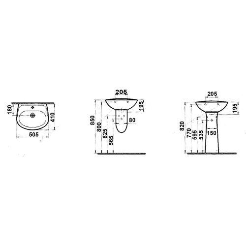 Lavabo gamme Vitra Normus photo du produit Secondaire 3 L