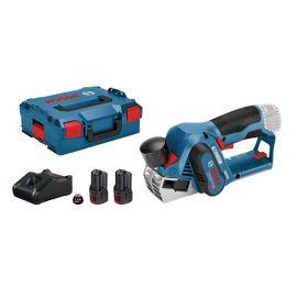 Rabot sans-fil Bosch GHO 12 V - 20 12 V + 2 batteries 2 Ah + chargeur GAL 12 V - 40 + coffret L-BOXX pas cher Principale M