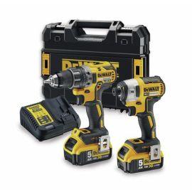 Pack de 2 outils Dewalt DCK268P2T (DCD791-DCF887)  XR 18 V + 2 batteries 5 Ah + Tstak pas cher Principale M