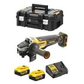 Meuleuse sans-fil Dewalt XR Brushless DCG406NT 18 V + 2 batteries 5 Ah + chargeur + T-stak photo du produit
