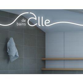 Miroir avec éclairage LED salle de bains II Par Joël Guenoun 70 cm x 90 cm (HxL) PRADEL pas cher