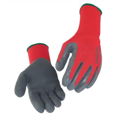 Gants de travail latex gris nylon rouge Singer NYM15LG photo du produit