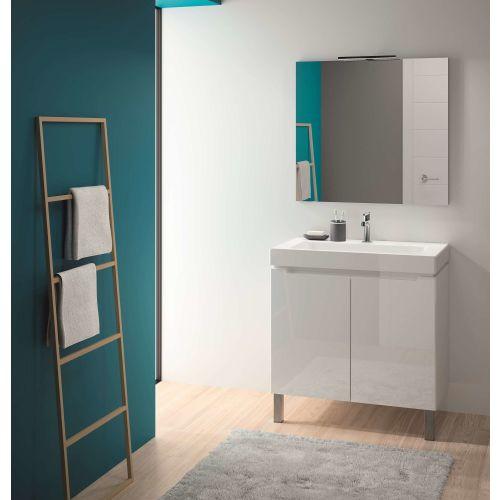 Ensemble meuble salle de bain avec vasque céramique blanc photo du produit Secondaire 2 L