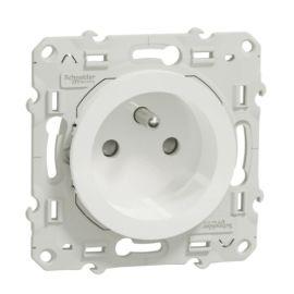 10 Prises de courant ODACE 2P+T blanc à vis connexion rapide photo du produit Principale M