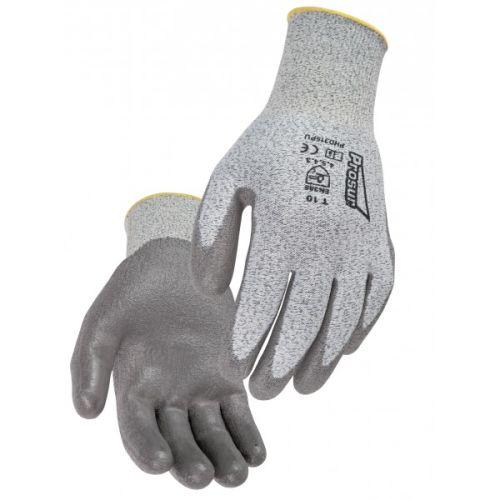 Gant anti-coupure niveau 5 HDPE PU gris photo du produit