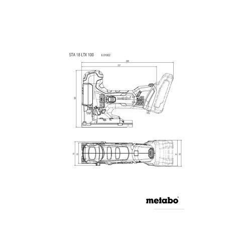 Scie sauteuse STA 18 LTX 100 18 V nue en coffret MetaBox - METABO- 601002840 pas cher Secondaire 1 L