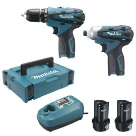 Pack 2 outils sans-fil Makita LCT204J (DF330D - TD090D) + 2 batteries 1,3 Ah + Makpac pas cher