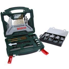 Coffret de 50 accessoires Bosch X-Line 50Ti + kit de fixation 173 pièces pas cher