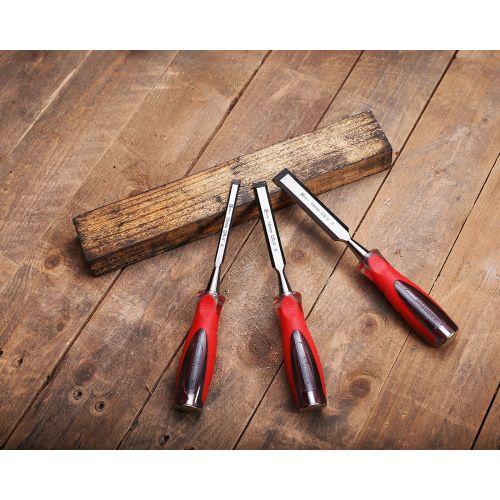Set de 3 ciseaux à bois XPRO 10-15-20 mm - HANGER - 110590 pas cher Secondaire 8 L
