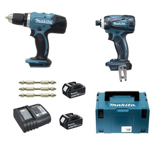 Pack de 2 outils sans fil 18 V Makita DLX2022SJ3 (DDF453 + DTD146) + 2 batteries 3 Ah + chargeur photo du produit