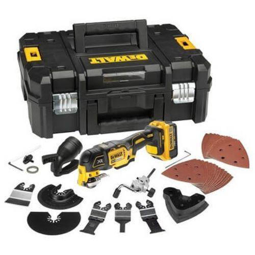 Multi-cutter (2x4AH) + 32 accessoires en coffret TSTAK - DEWALT - DCS355M2 pas cher