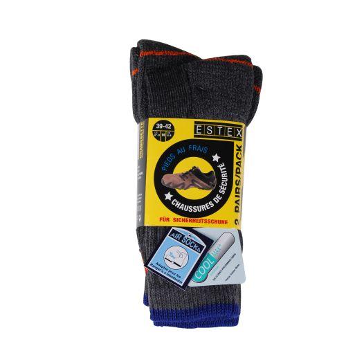 Chaussettes TREK COOLMAX gris chiné photo du produit Secondaire 1 L