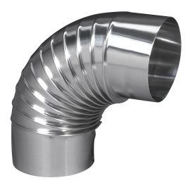 Coude plissé 90° aluminium TEN photo du produit Principale M