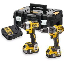 Pack 2 outils 18 V Dewalt DCK266P2T (DCD796+DCF887) + 2 batteries 5 Ah + T-Stak pas cher Principale M