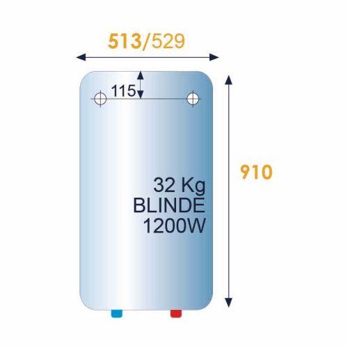 Chauffe-eau électrique Blindé 100L vertical mural standard - THERMOR - 261128 pas cher Secondaire 1 L